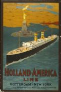 Vintage Dutch poster - Holland-America Line